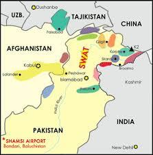 map of swat pakistan