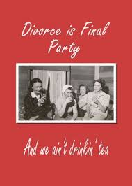 divorce party invitation
