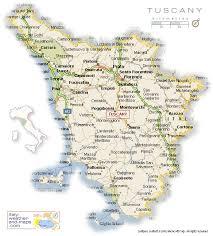 maps tuscany italy