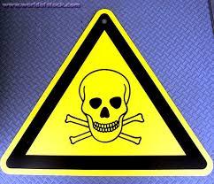 danger sign skull