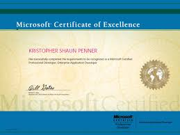 microsoft certified professional certificate