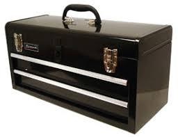 black tool boxes