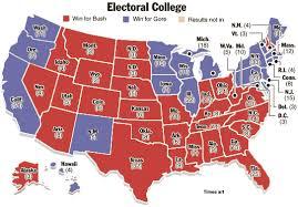 electoral college map 2000