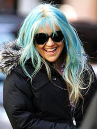 blue highlights hair