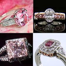 pink diamond wedding sets