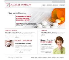 medical website template