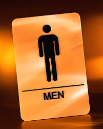 man toilet sign