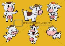 cute cartoon cows