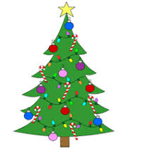 cartoon christmas trees pictures