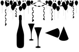 black and white party accessories