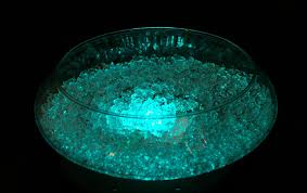 shallow glass bowl