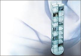glass cd stands