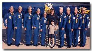 the full blue angels team with
