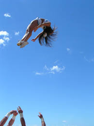 cheerleading basket toss