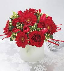 christmas flower centerpieces