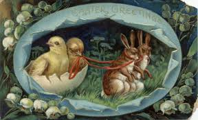 easter greeting postcards