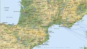 maps south of france