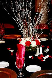 red and silver wedding decorations