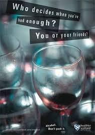 adverts for alcohol