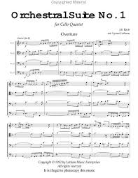 bach cello suite sheet music