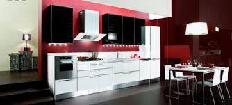 black red white kitchen