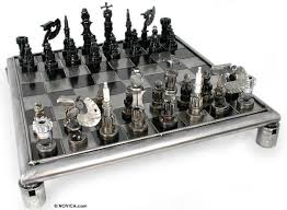 silver chess sets