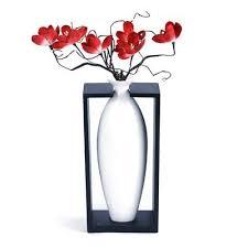 red ceramic vases