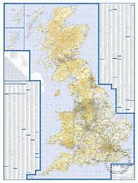 great britain road maps