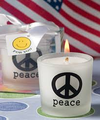 peace sign candles