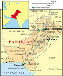 pakistan weather map