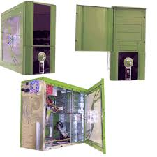 green computer cases