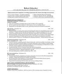 sample accounting resumes