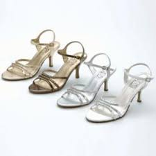 bronze strappy shoes