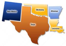 map of southwest states