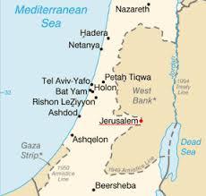 jerusalem on map