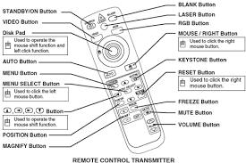 hitachi projector remote