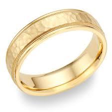 brushed gold wedding band