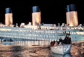 titanic sinking picture