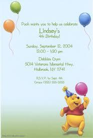 pooh invitation