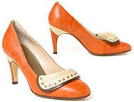 orange dress shoe