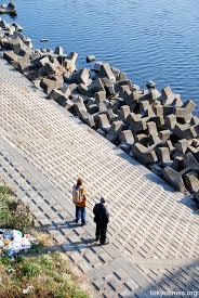 concrete river