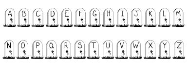 gravestone font