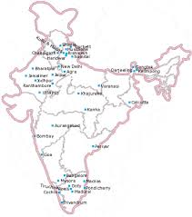 map of major cities in india
