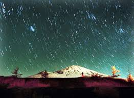 The Leonid meteor shower,