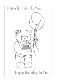 printable coloring birthday cards
