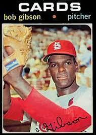 bob gibson baseball card