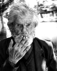 old man smoke