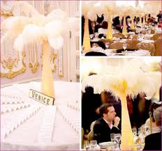 ostrich feather wedding centerpieces