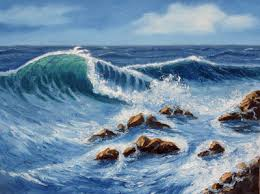 oil painting waves