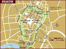 map of krakow